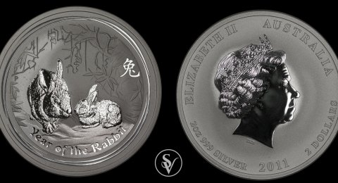 2011 2ounce silver Year of the Rabbit