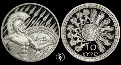 2020 10 Euro silver Battle of Thermopyles