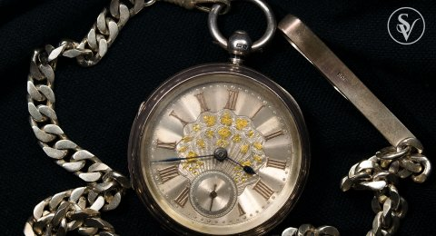 1886 Antique Silver English Pocket watch