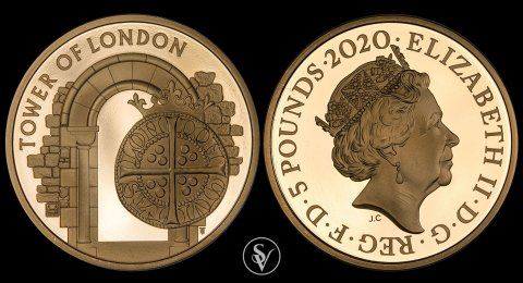 2020 Tower of Lond series 5 pound proof