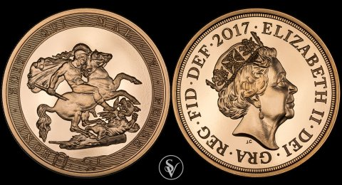 2017 5 pound BU sovereign 200th Anniversary