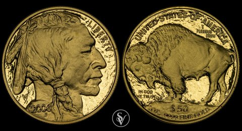 2006 - W  50$ gold proof Buffalo coin