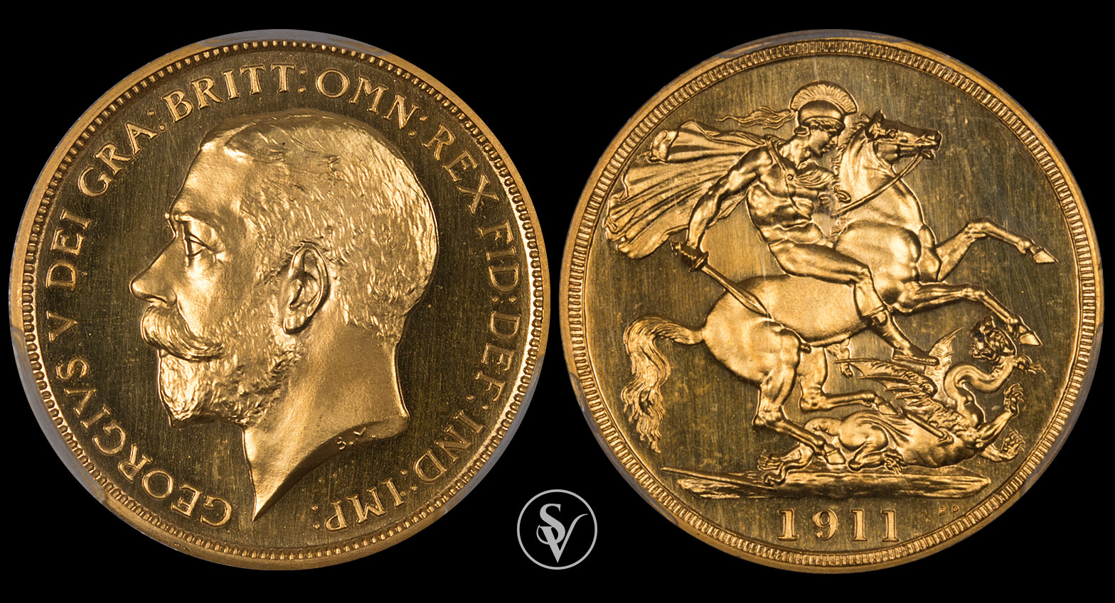 1911 George V gold double sovereign PR66 Cameo PCGS