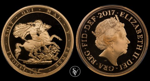 2017 Elizabeth II 2 pound proof sovereign 69DCAM PCGS