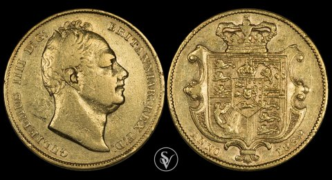 1832 William IV gold sovereign First Bust