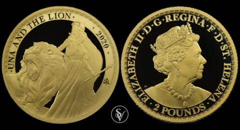 2020 Una and the Lion 1/4 ounce proof coin
