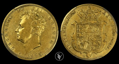 1829 George IV gold sovereign XF45 PCGS