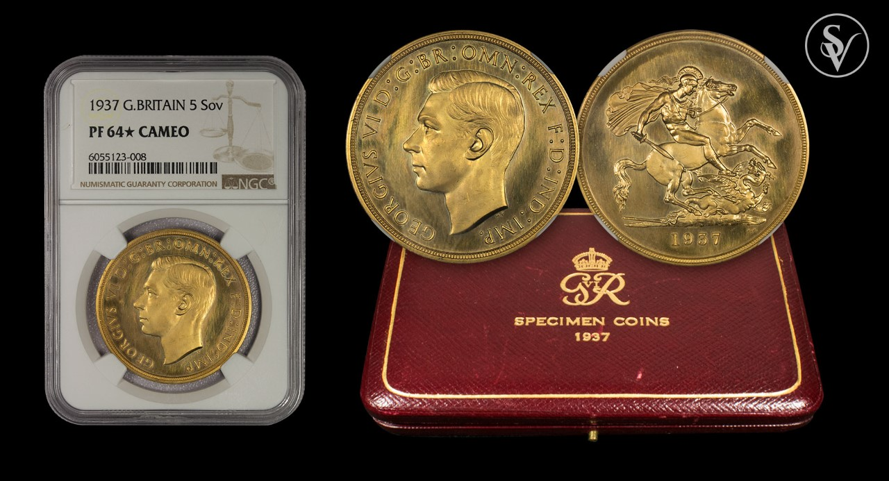 1937 George VI gold proof set NGC