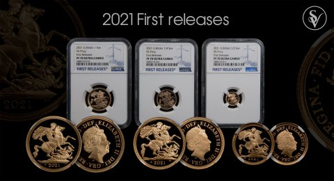 2021 Elizabeth II proof set 3 coin 95th Birthday PF70 First Releases NGC