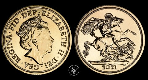2021 Elizabeth II BU gold sovereign