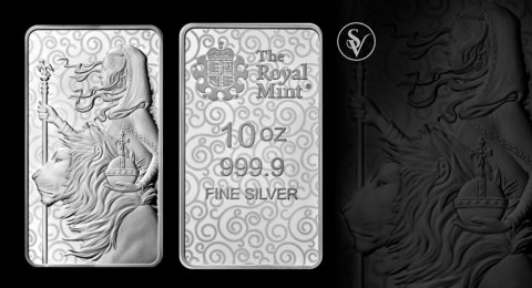 Una and the Lion 10 oz silver bar