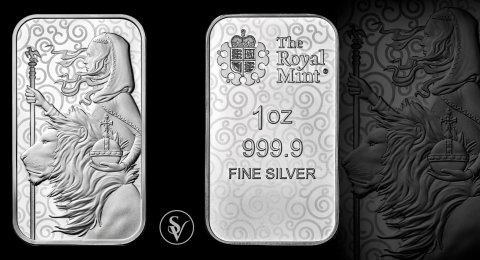 Una & the Lion 1 oz Silver Bar Minted