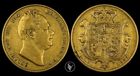 1833 William IV gold sovereign