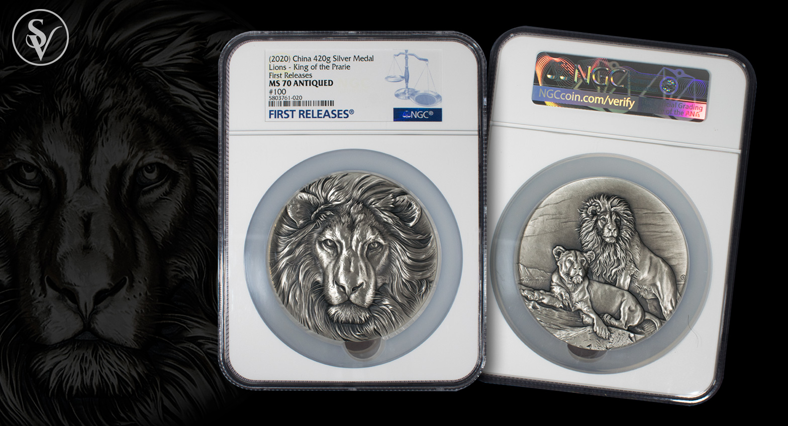 Fight Virus NGC MS70 2020 China 60mm Antiqued Silver 220g Medal