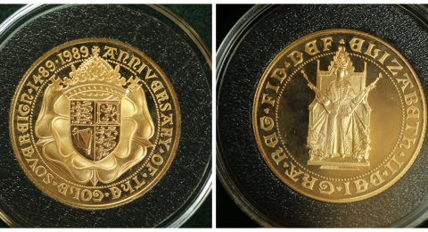 1989 Elisabeth II Double sovereign Tudor Rose