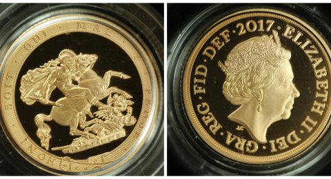 2017 Gold sovereign Piedfort Proof
