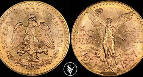 1947 Mexican 50 Pesos gold  mixed dates