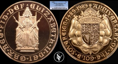 1989 Elisabeth II proof sovereign 69DCAM PCGS