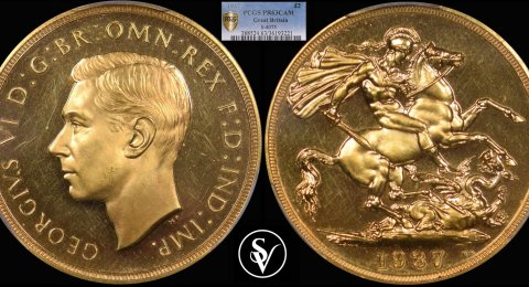 1937 George VI double proof sovereign 63CAMEO PCGS