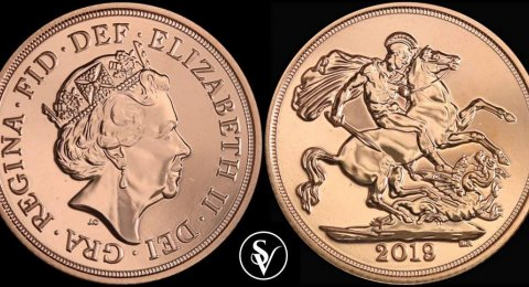2019 Elizabeth II BU gold sovereign