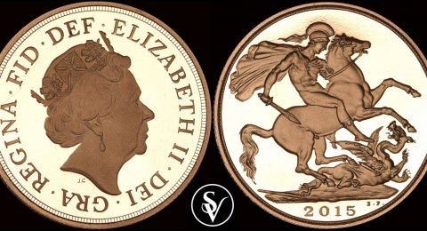 2015 Elizabeth II two pounds proof sovereign