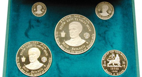 Haile Selassie I 5-Piece gold Proof Set EE1958 (1966)