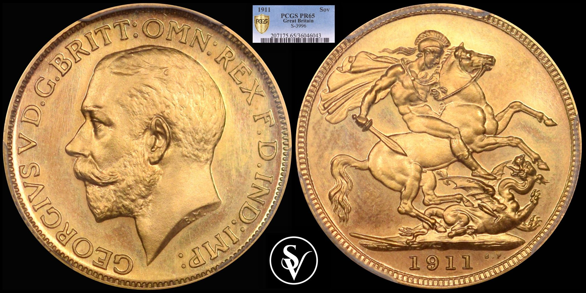 1911 proof sovereign