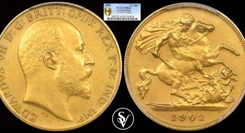 1902 Edward VII gold half sovereign PR62 PCGS