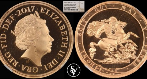 2017 Elizabeth II proof gold sovereign 200 years Ann