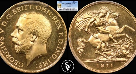 1911 George V half sovereign PR65CAM PCGS