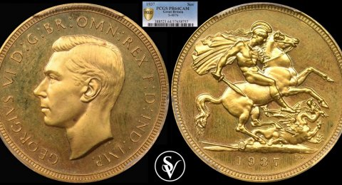 1937 George VI gold proof sovereign PR64CAM PCGS