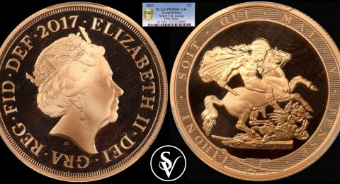 2017 Elizabeth II double proof sovereign  PF70 PCGS DCAM