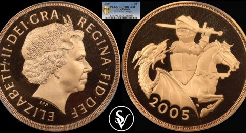 2005 Elizabeth II double proof sovereign PR70DCAM PCGS
