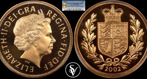 2002 Elizabeth II double proof sovereign PR70DCAM PCGS