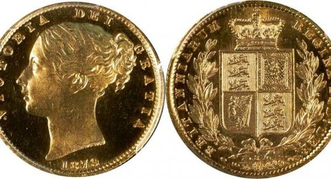 1878 S Victoria proof gold sovereign