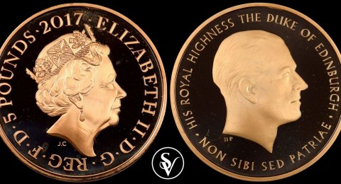 2017 Prince Philip 5 pound gold sovereign proof