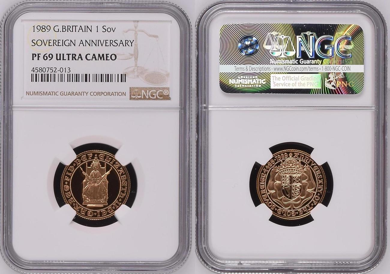 1989 proof sovereign 69 ultra cameo NGC
