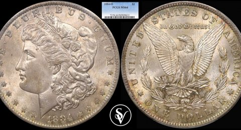 1884-O morgan 1$ silver MS64 PCGS
