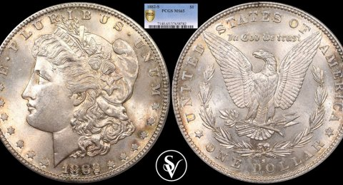 1882-S 1$ silver Morgan MS65 PCGS