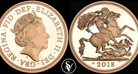 2018 Elizabeth II double proof sovereign anniversary edition