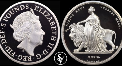 2019 Silver 2ounce UNA and the LION