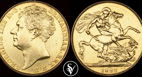 1823 George IV double sovereign
