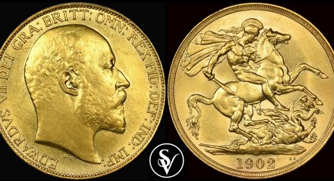 1902 Edward VII double gold sovereign