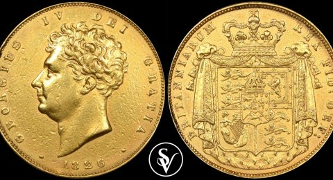 1826 George IV two gold sovereign